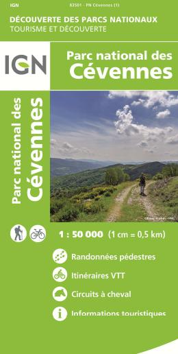 Carte IGN Parc national des Cévennes