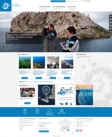 Le nouveau site internet du Parc national des Calanques