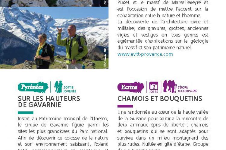 Pages du guide Esprit parc national - Inspirations 2020