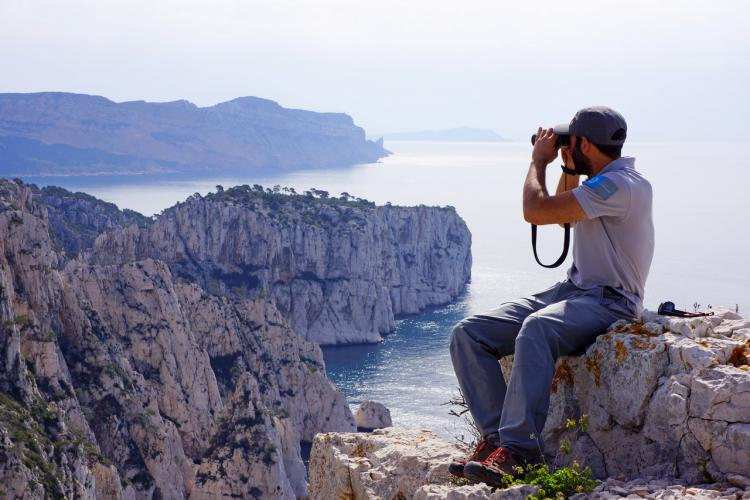 Surveillance des Calanques © Céline Bellanger / Parc national des Calanques